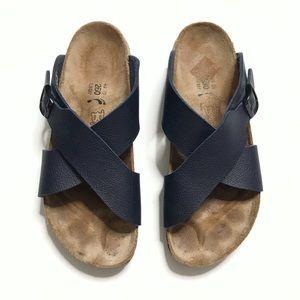Birkenstock Siena Navy Blue Cross Strap Sandals